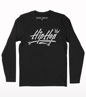 Hip hop graffiti full sleeve T-shirt