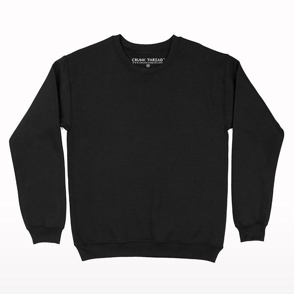 Black Plain Fleece Sweatshirt