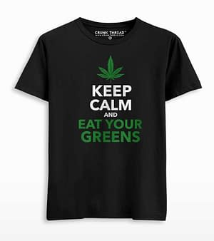 Keep calm & eat your greens T-shirt