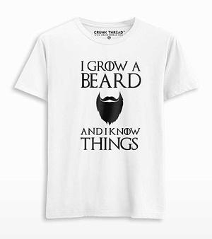 I grow a beard and i know things T-shirt