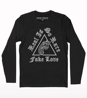 Fake love full sleeb t-shirt