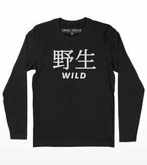 Wild Japanese Typography Full Sleeve T-shirt