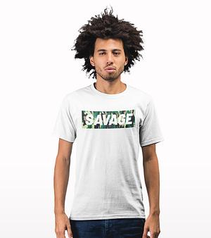 savage camouflage printed T-shirt