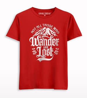 Not All Those Who Wander Are Lost Men's Printed T-shirt