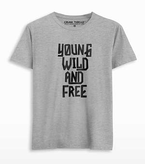 young wild and free t shirt