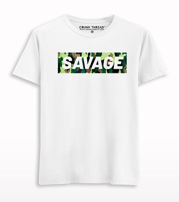 Savage camouflage Print T-Shirt
