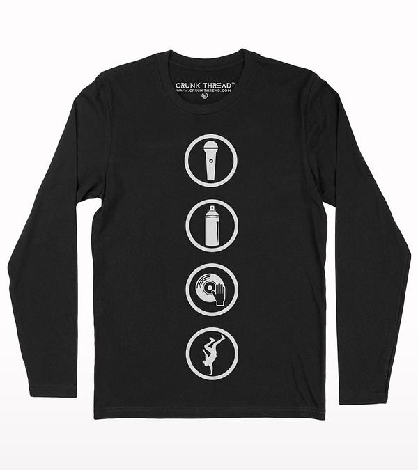 Hip hop elements full sleeve T-shirt