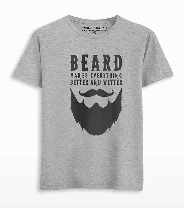 Beard Makes Everything Better Men's Printed T-shirt