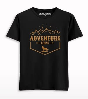 Adventure Begins Print T-shirt