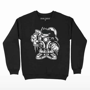 Graffiti Bomber Printed Sweatshirt