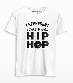 I represent 100% real hiphop