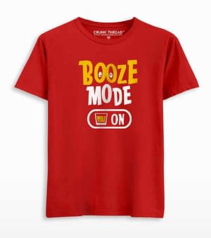 booze mode in T-shirt