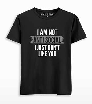 i am not anti social t-shirt