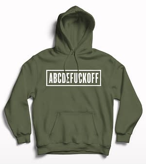 Abcdefuckoff Hoodie Olive green