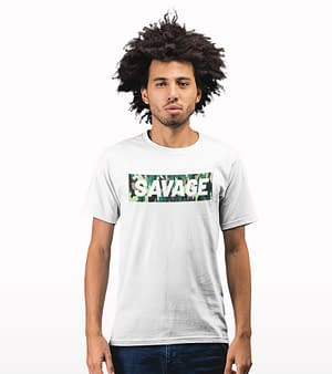 savage camouflage printed T-shirt