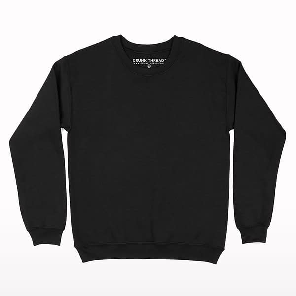 Black Plain Fleece Sweatshirt